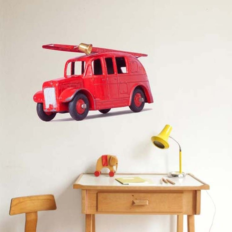 Muursticker Brandweerwagen