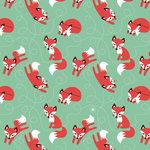 Kinderkamer-behang-Bora-Illustraties-vosjes