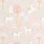 Majvillan-Kinderkamer-behang-True-Unicorns-Pink-vierkant
