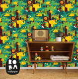 Kinderkamer-behang-Jungle-Bora-Illustraties-inrichting