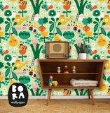 Kinderkamer-behang-Groentetuin-Bora-Illustraties-kamer