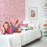 Kinderkamer-behang-Majvillan-Dragon-Pink-kamerinrichting
