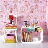 Kinderkamer-behang-Majvillan-Palace-Garden-Pink-inrichting