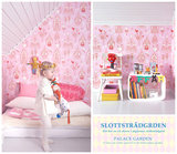 Kinderkamer-behang-Majvillan-Palace-Garden-Pink-detail