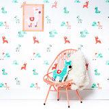 Kinderkamer-behang-alpacas-Bora-Illustraties-kamer