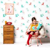 Kinderkamer-behang-alpacas-Bora-Illustraties-inrichting
