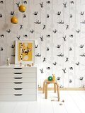 Kinderkamer-behang-luiaards-Bora-Illustraties-inrichting