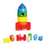 Houten-stapel-raket-Bajo-onderdelen