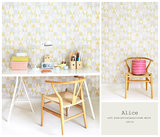 Kinderkamer-behang-Majvillan-Alice-Pink-Yellow-inrichting