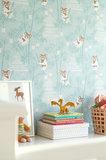 Kinderkamer-behang-Majvillan-Bambu-Turquoise-inrichting