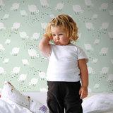 Kinderkamer-behang-Lavmi-Kuikentjes-mint-kamer