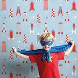 Kinderkamer-behang-Lavmi-raketten-lichtblauw-kamer