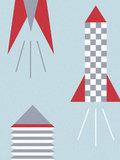 Kinderkamer-behang-Kinderbehang-Lavmi-raketten-lichtblauw-detail