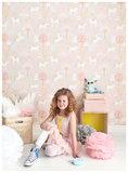 Majvillan-Kinderkamer-behang-True-Unicorns-Pink-Room