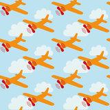 Vliegtuigen-lichtblauw-Behangstalen-Kinderkamer-behang