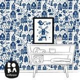 Kinderkamer-behang-Bora-Illustraties-Holland-kamer