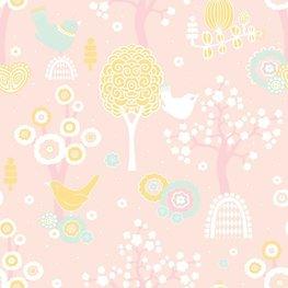 Behang Majvillan Cherry Valley Pink