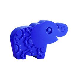 Blafre broodtrommel 'olifant' blauw