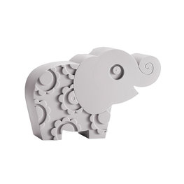Blafre broodtrommel 'olifant' grijs