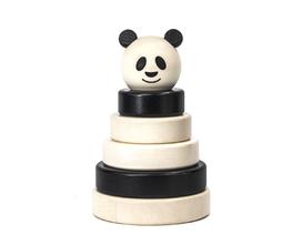 Houten stapeltoren panda