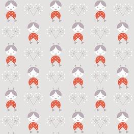 Behang Lavmi Popjes - grijs