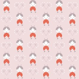 Behang Lavmi Popjes - roze