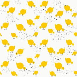 Behang Lavmi Kuikentjes - geel