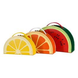 Kofferset fruit (meloen-sinaasapel-citroen)