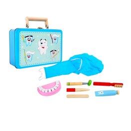 Houten tandarts koffer