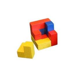 Houten puzzel kubus