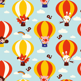 Behang Luchtballon