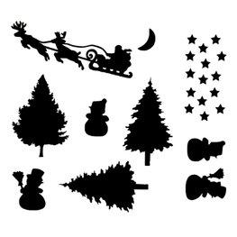Herbruikbare raamstickers Kerst