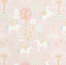 Behang Majvillan True Unicorns Pink