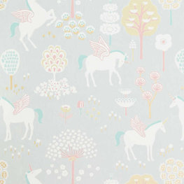 Behang Majvillan True Unicorns Grey