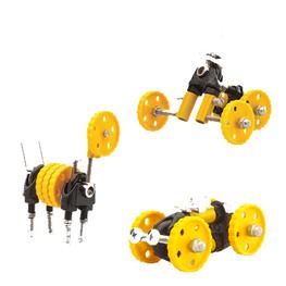 Offbits 3-in-1 constructieset auto geel