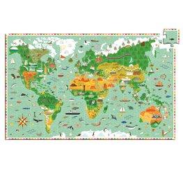 Djeco puzzel De Wereld Rond - 200 stukjes