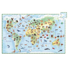 Djeco puzzel Werelddieren - 100 stukjes