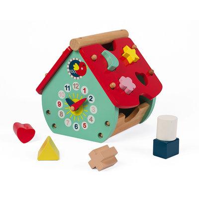 Janod Baby Forest Huis - Vormenstoof