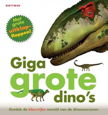 Giga grote dino's - ontdekboek met uitklapflappen