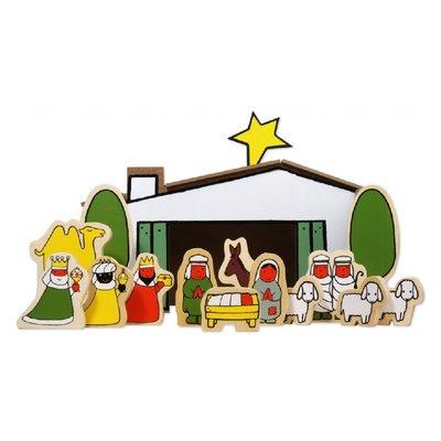 Dick Bruna houten kerststal - Nijntje