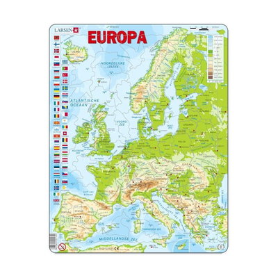 Europa kaart - Larsen puzzel