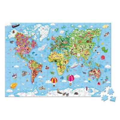 Janod Wereldkaart Puzzel