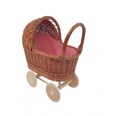 Hollie Rieten poppenwagen Old Rose
