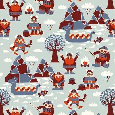 Bora behang Vikingen