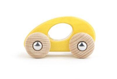 Houten auto (eco limousine) - geel