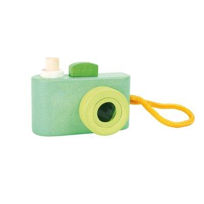 Houten camera groen