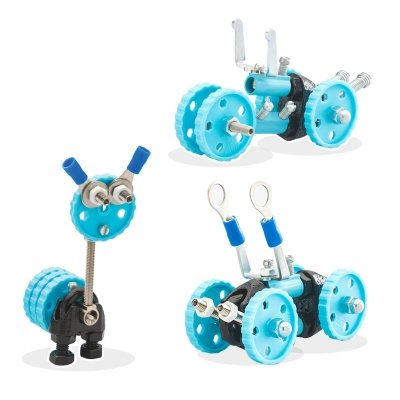 Offbits 3-in-1 constructieset auto blauw