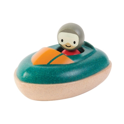 Plan Toys houten speedboot