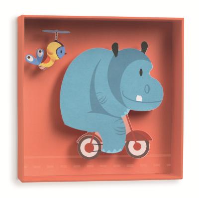 Djeco Hippo 3D wandschilderijtje