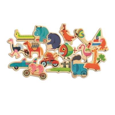 Djeco houten magneten In Beweging!